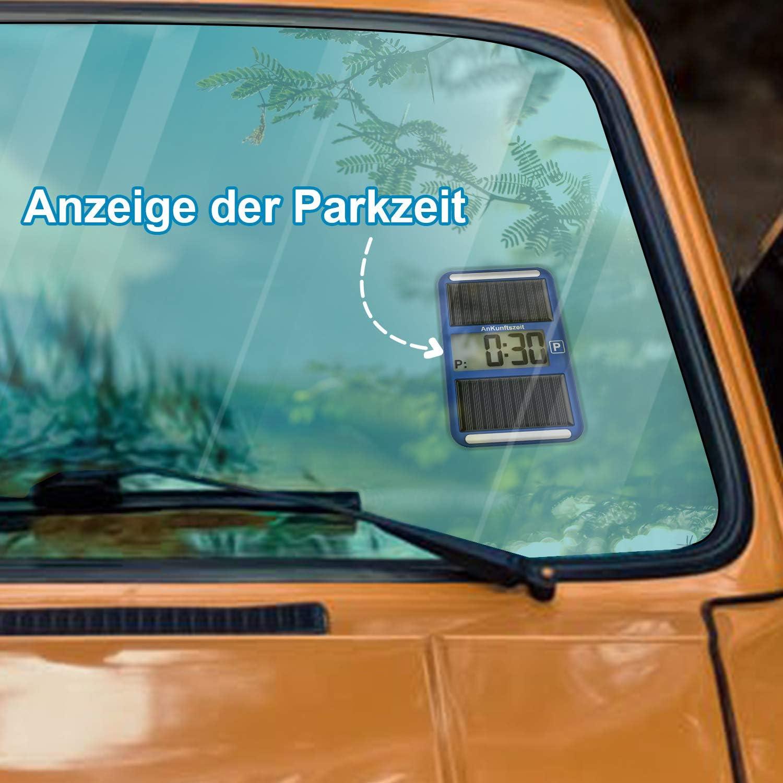 hohe Temperaturbest/ändigkeit VINGO 2X Parkscheibe Europa elektronisch hochwertige universell Parkuhr
