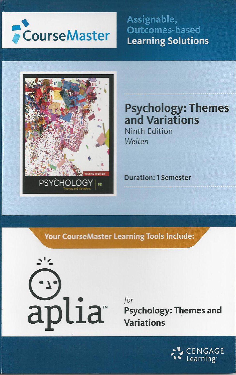 Read Online Weiten's Psychology: Themes and Variations, Aplia 1-Semester Printed Access Card, 9th Edition pdf epub