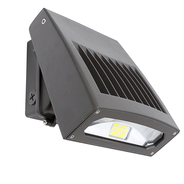 CNSUNWAY LIGHTING 30W LED Wall Pack Light, Slim Design,0-90° Adjustable Head,Outdoor Wall Light Fixture, 3300LM,5000K, 200 Watt HPS/HID Replacement,LED Security Area Light,ETL DLC Listed