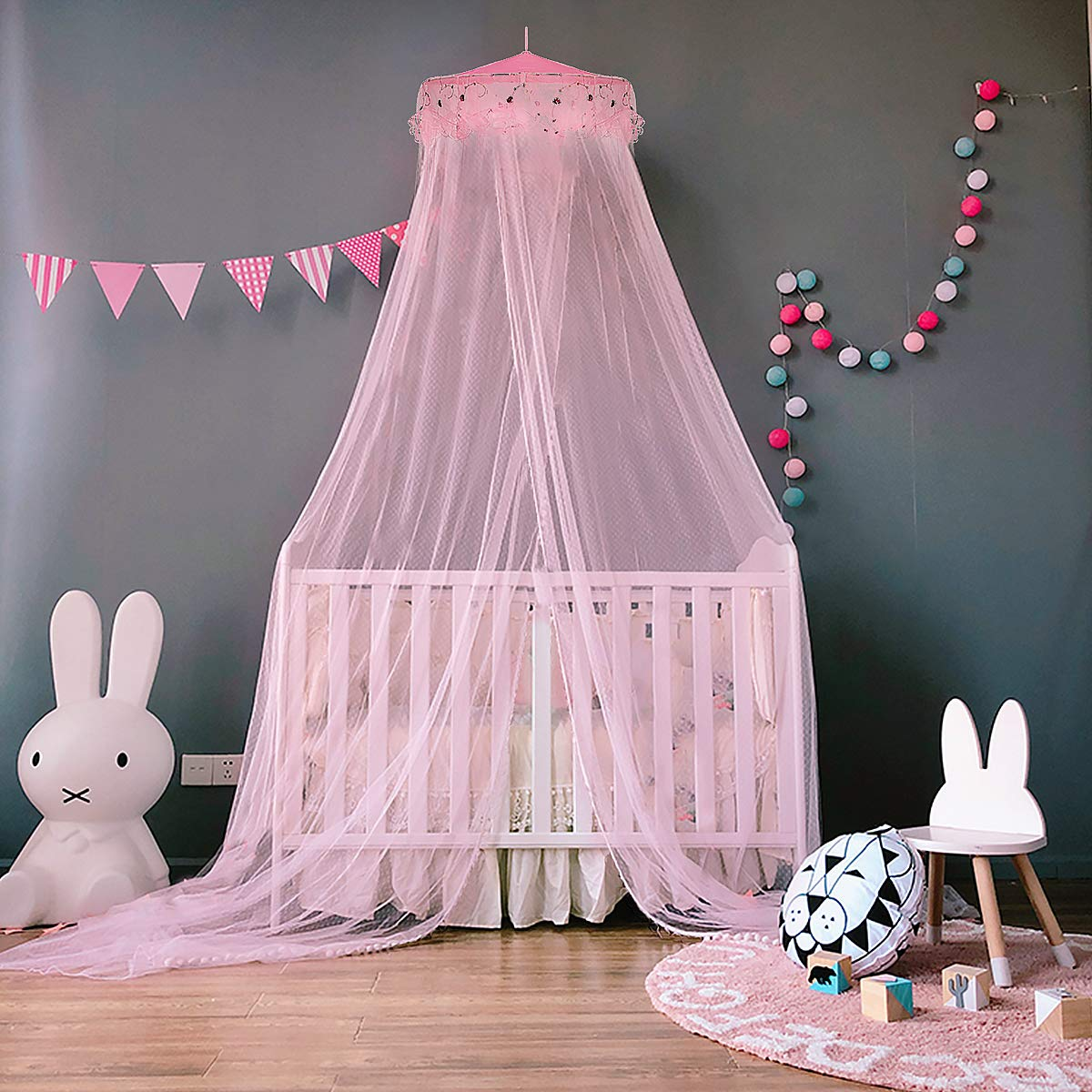 Jet Even Bed Canopy Canopy Mosquito Repellent Insect Net for Baby Kid Home or when on the Go Double High 260/cm beige