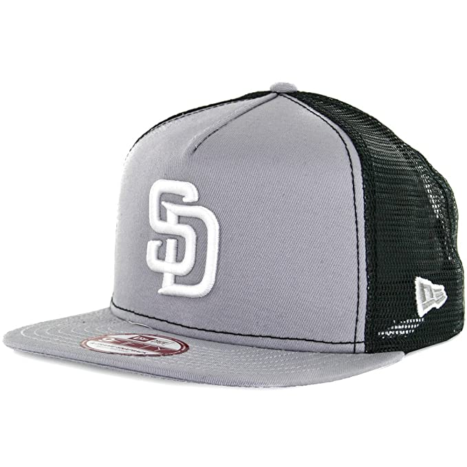 52eae9675 Amazon.com : New Era 9Fifty San Diego Padres Trucker Snapback Hat  (Grey/White) Men's Mesh Cap : Clothing