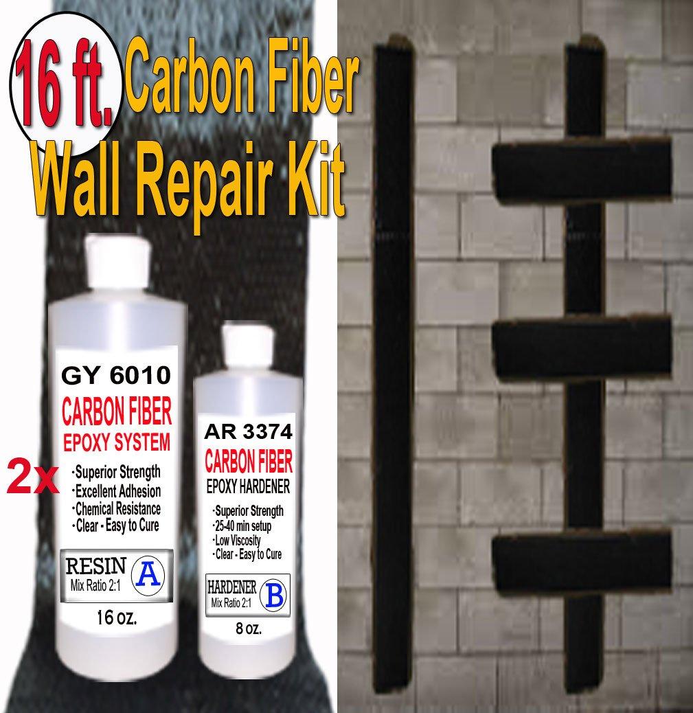 16 ft-Carbon Fiber-Basement Wall Crack Repair Kit