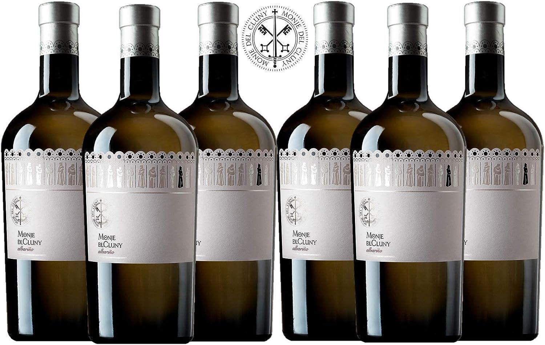 MONJE DEL CLUNY Vino blanco – Albariño Rias Baixas – Criado sobre lías - Producto Gourmet – Vino Colección - Vino bueno para regalo – caja de vino - vino Premium -