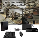 Keyboard and Mouse Adapter Controller Converter for Xbox One PS4 Nintendo Switch/lite with Turbo/Auto /Setting Button Compatible with 2.4G Wireless Keyboards and Mice