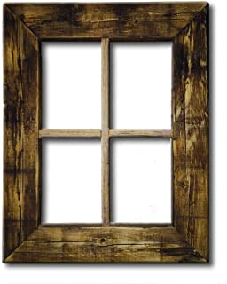 primitive rustic weathered wood window frame - Wooden Window Frames