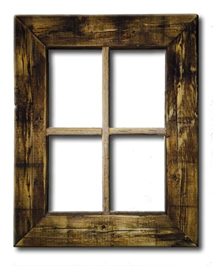 Amazon.com: Primitive Rustic Weathered Wood Window Frame: Home & Kitchen