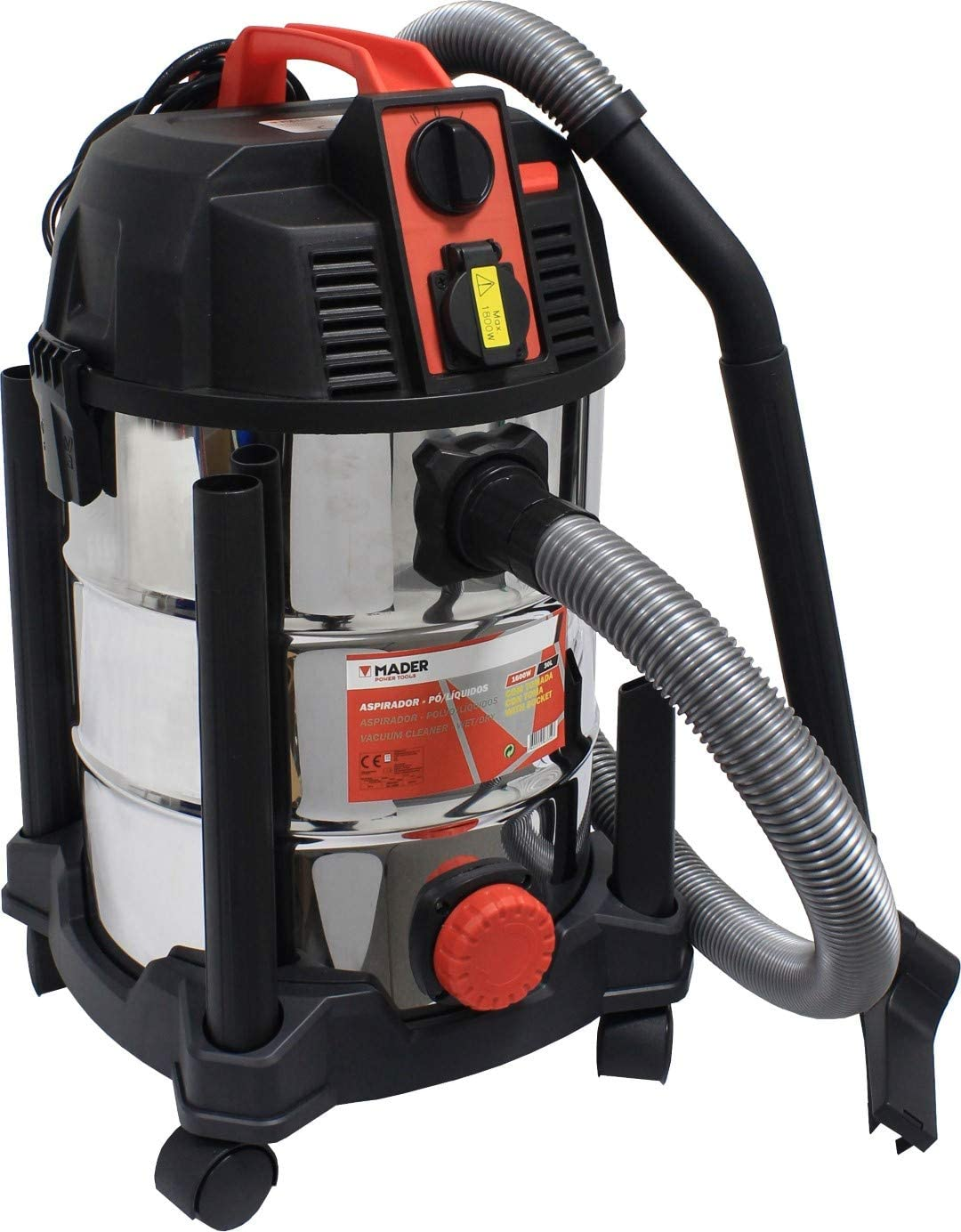 MADER POWER TOOLS Aspirador Polvo y Liquidos 30L - 1600W: Amazon ...