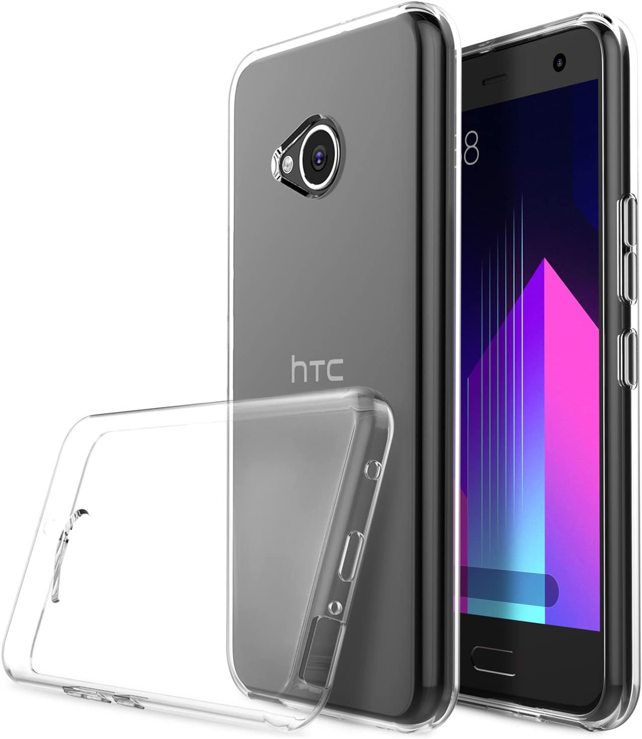 Funda HTC U11 Life, KuGi TPU Transparente Slim Silicona Case Cover ...