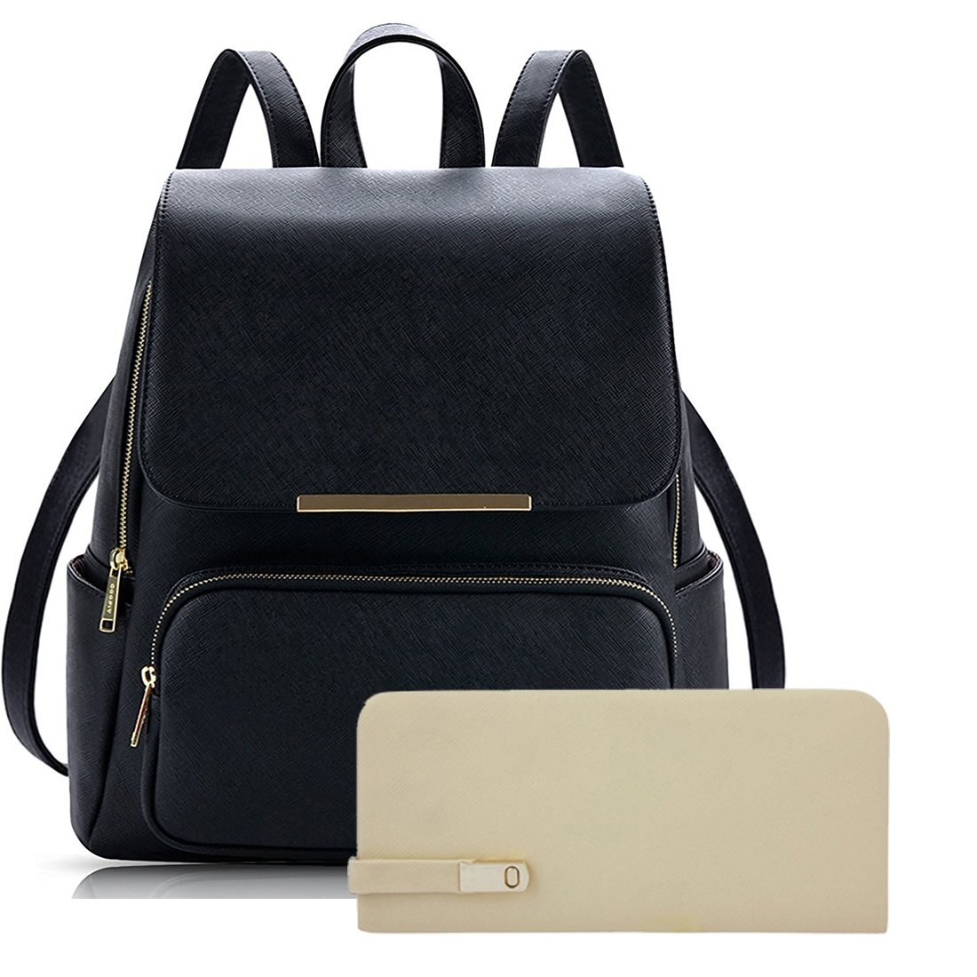 Alice Women s Backpack Handbag With Clutch Combo (Prebkp9 Clutch ) - Black   Amazon.in  Shoes   Handbags 02ad0a3ee44d8