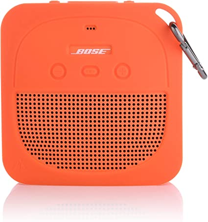 Soft Silicone Waterproof Shockproof Cover Fits Bose Micro Bluetooth Speakers for Secure Outdoor Protection Aotnex Bose SoundLink Micro Case with Portable Metal Hook for Easy Carrying