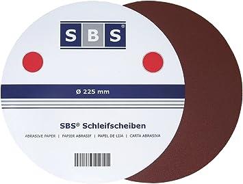 SBS 30 Piezas Velcro Muelas abrasivas Grano 40 - 240 ø 225 mm para ...