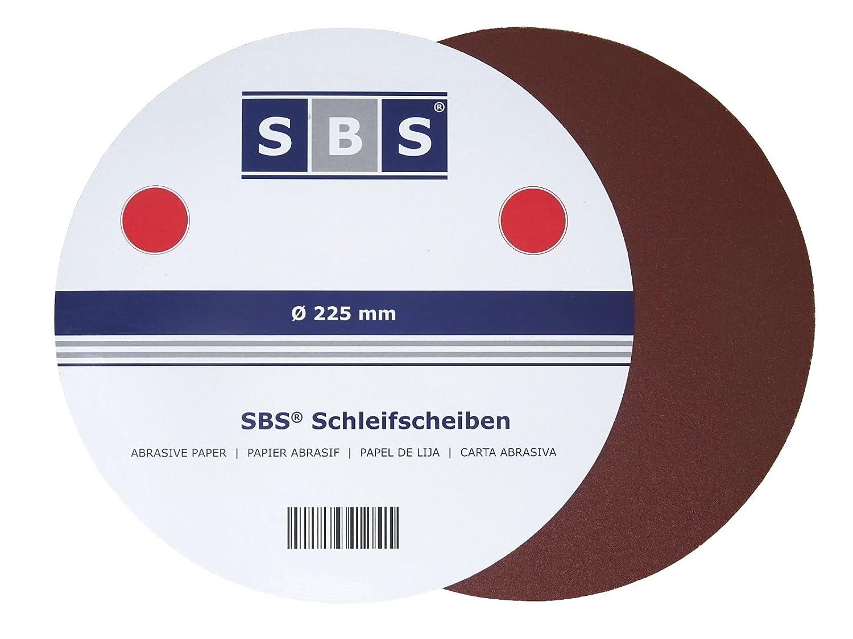 25? SBS Velcro 100 disques abrasifs Grain? Long manche pour ponceuse Schleifgiraffe Diamètre : 225 MM