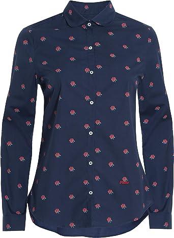 Brava Fabrics | Blusa para Mujer | Camisa Morada Estampada para Mujer | Modelo Hot Chili: Amazon.es: Ropa y accesorios