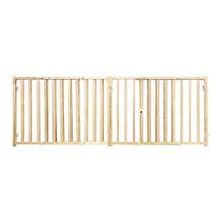 "Four Paws Vertical Wood Slat Dog Gate, 51-93"" W by 24"" H"