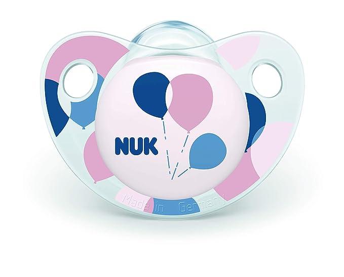NUK Trendline Pacifiers Set de 2 para niña - Multicolor - 0-6 meses