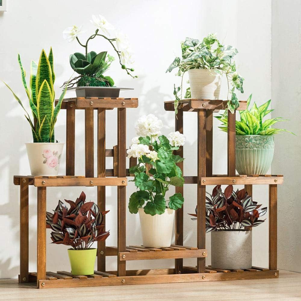 JKQ MassiveHolz Blumenregal Multi-Layer Edgy Multi-Fleisch Balkon Blumentopf sparen Platz Wohnzimmer gr/ün Luo Indoor Blumenregal