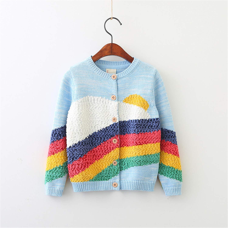 Baby Girls Sweaters Spring Rainbows Cotton Children Clothing Knitting Cardigan Kids Tops