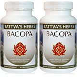 Bacopa 500 mg. Supports Memory, Focus & Cognitive Function - Organic Full Spectrum Extract 240 Vcaps (2 Pack - 120 ct./ea)