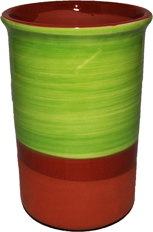 Purple Olive Enfriador para Botellas de Vino de cerámica Estilo español (Verde Pistacho)
