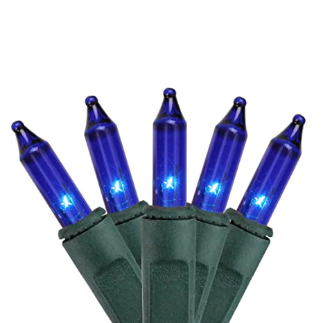 Amazon.com: Set de alambre de 35 luces de navidad azules 2.5 ...