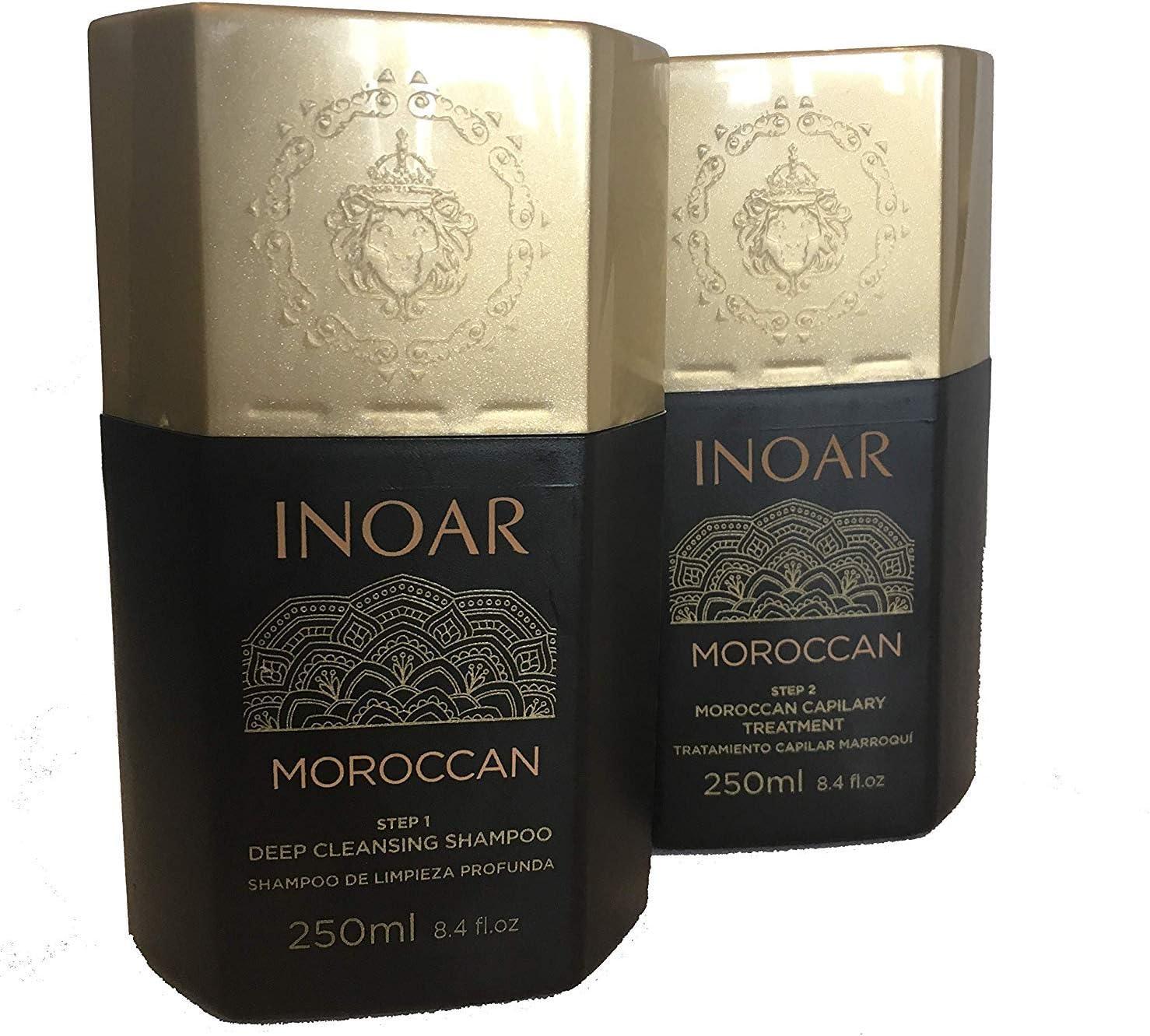 INOAR Tratamiento Queratina Brasileña-Marroquí para alisamiento Capilar