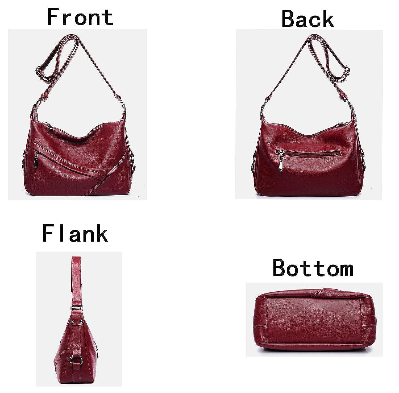 203d93850ad Amazon.com  Molodo Women PU Leather Big Shoulder Bag Purse Handbag Tote Bags  Black  Shoes