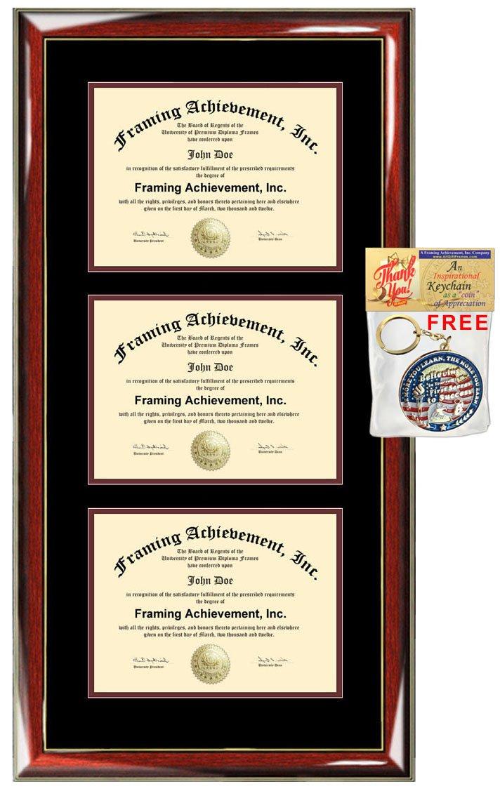 Amazon Triple Degree Frame License Certificate Plaque