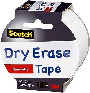 Scotch Dry Erase Tape, 1.88