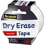Scotch 1905R-DE-WHT Dry Erase Tape, White, 1.88-Inch x 5-Yard