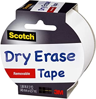 """product image for Scotch Dry Erase Tape, 1.88"""" x 5 Yards, 1 Roll, White (1905R-DE-WHT)"""