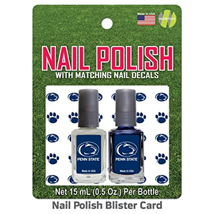 Amazon.com : Worthy Promotional Penn State Nail Polish Team Colors and Nail Decals : Sports & Outdoors