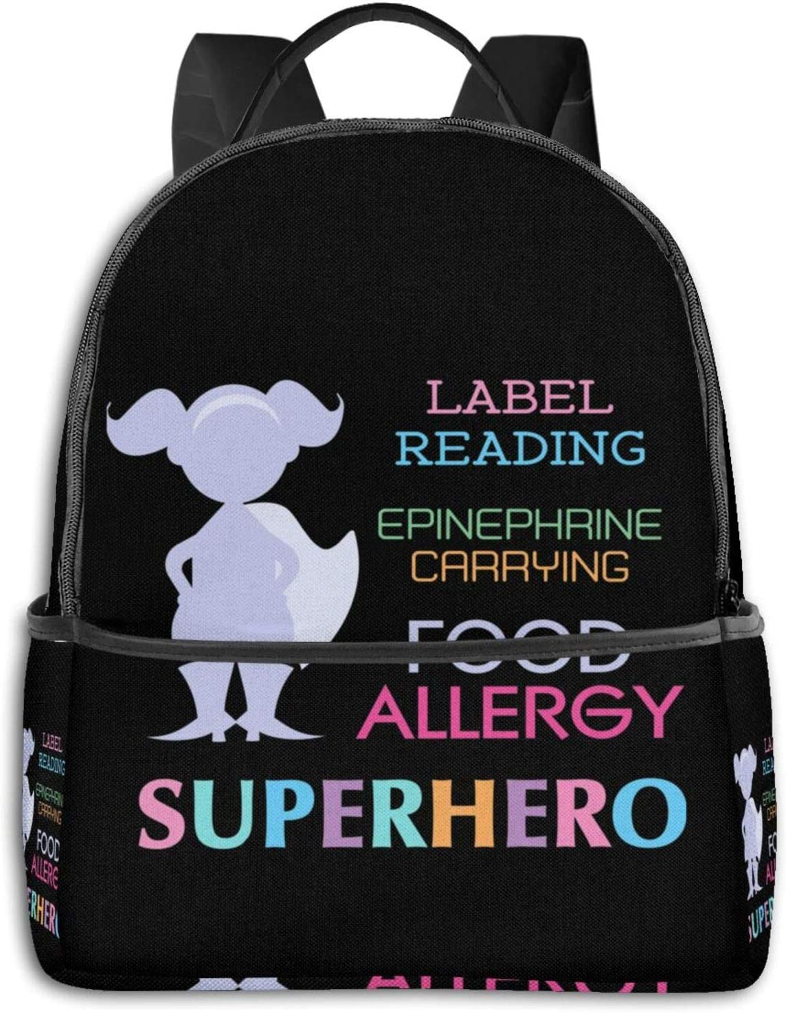 Kids Food Allergy Girls Silhouette Pullover Hoodie Student School Bag School Cycling Leisure Travel Camping Outdoor Backpack
