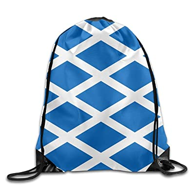 Flag Of Scotland Drawstring Backpack Bag Beam Mouth Yoga Sackpack Rucksack Shoulder Bags For Men/Women