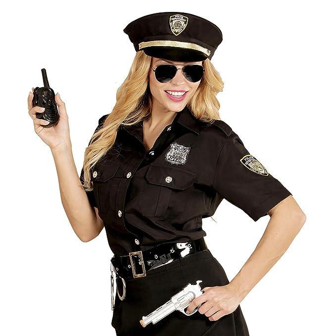 WIDMANN 67652 adultos Disfraz Agente de Policía, mujer, Negro/Azul ...