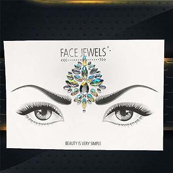 Amazon.com   Hot Sale Temporary Eye Gems Tattoo Stickers Girls Xmas Gifts  Women Eyeliner Decor Flash Face Colorful Rhinestone Jewel Evening PK    Beauty 13cd15dc4d8a