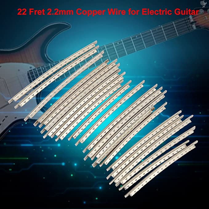 22Pcs Guitar Fret Wires, Copper Standard Guitar Fretwire 2.2mm for ...