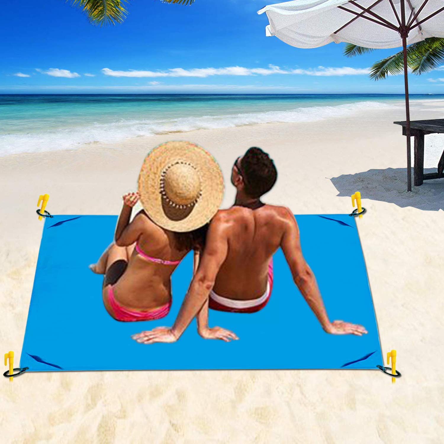 Amazon.com: KAYCY - Manta de bolsillo de playa para camping ...