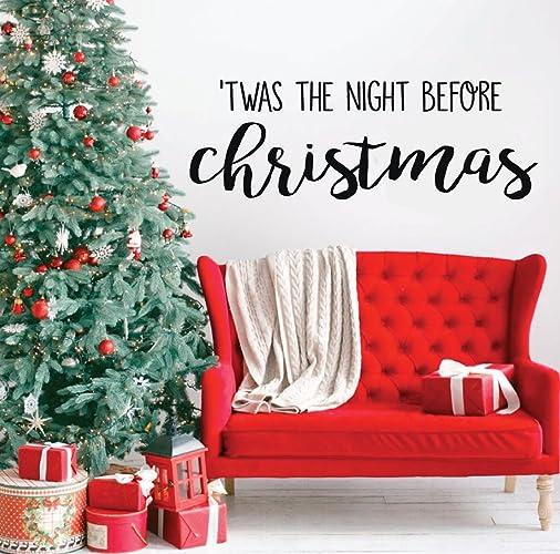Image Unavailable - Amazon.com: Christmas Wall Decal - 'Twas The Night Before Christmas