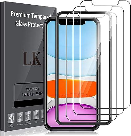 LK Lot de 3 films protecteurs d'écran en verre trempé pour iPhone ...