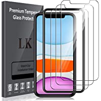 LK 3 Pack Screen Protector Compatible for iPhone 11 and iPhone XR Tempered Glass