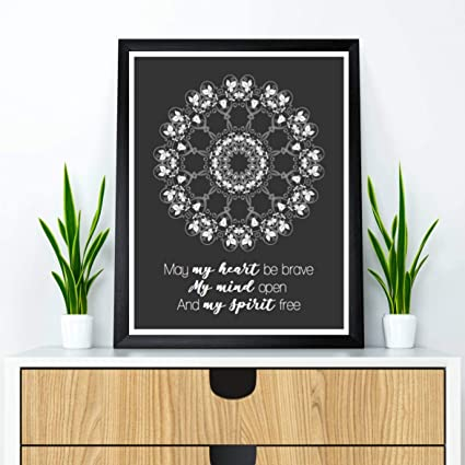 Amazon.com: Les Connie Meditation Wall Art Mandala Poster ...