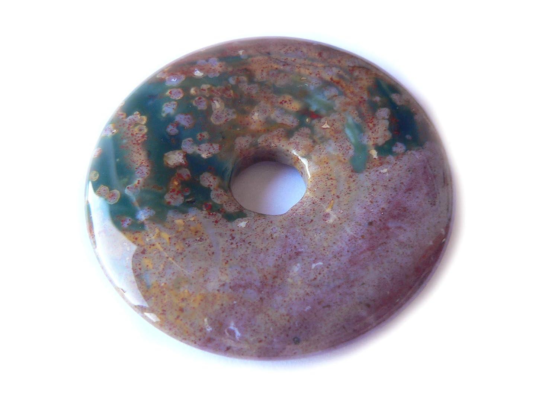 Ozeanjaspis Jaspis mutlicolor Edelstein Donut 5 cm