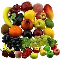 Gresorth 30 Frutas Decorativo Realistic Artificial Fruta Falso
