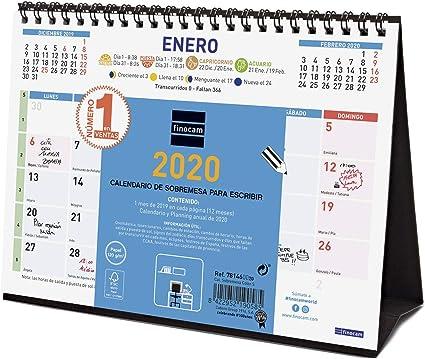 Finocam - Calendario de sobremesa 2020 Color Escribir español ...