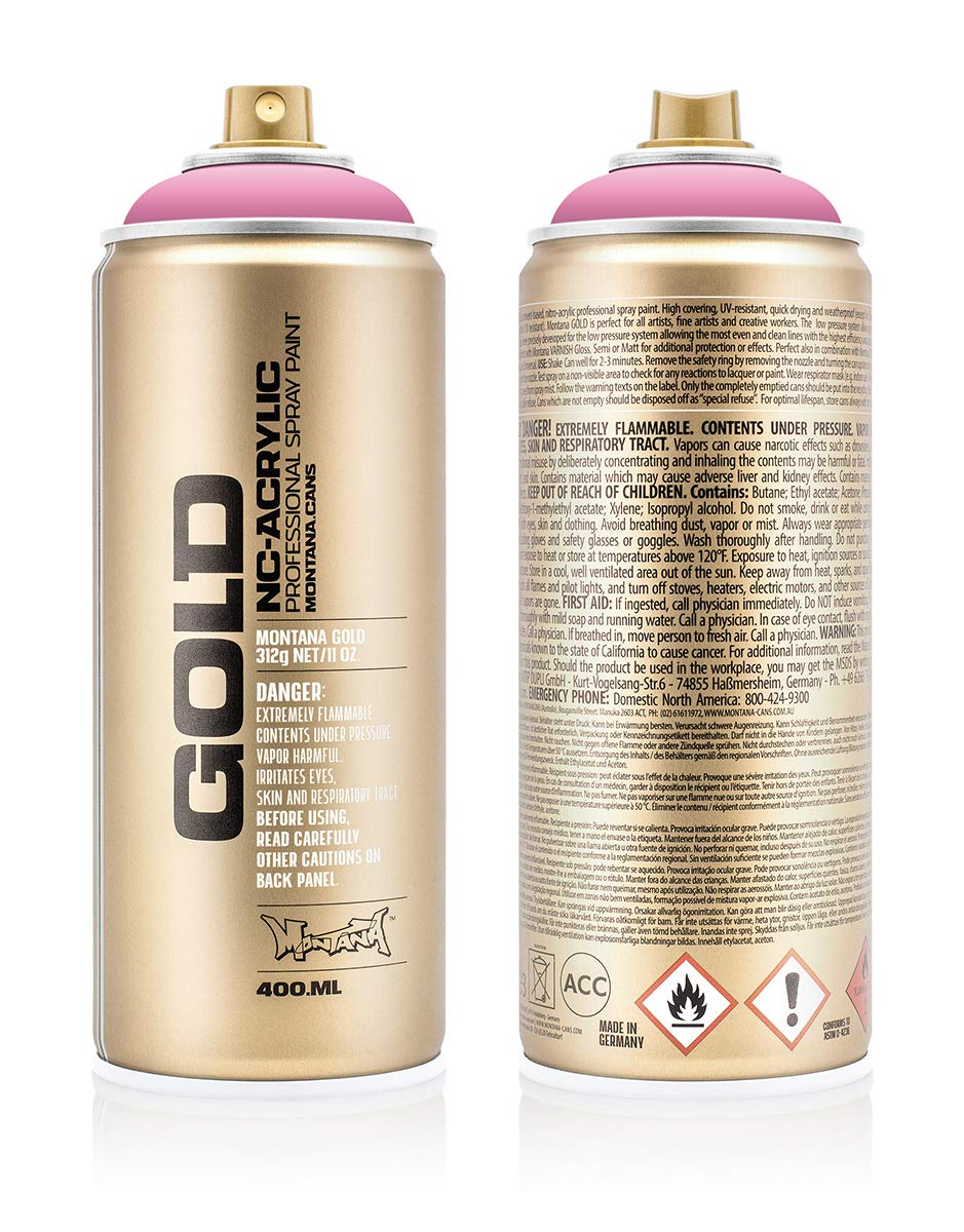 Montana Cans Montana GOLD 400 ml Color, Shock Pink Light Spray Paint