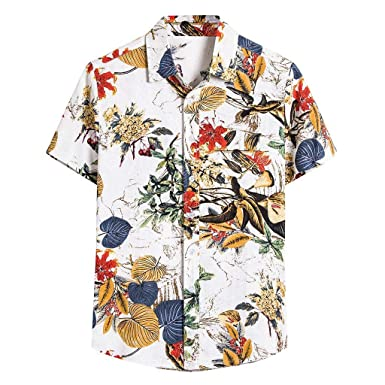 Haoricu Camisas de Verano con Cuello en V, Informales, Sueltas ...