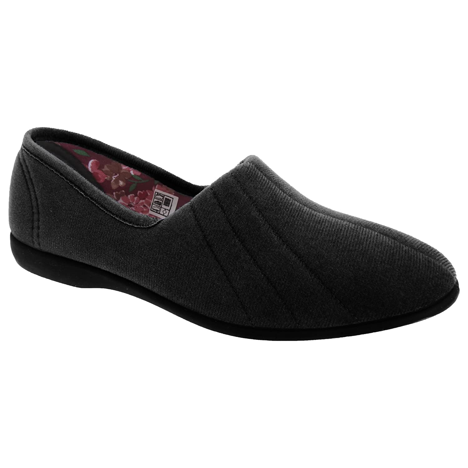GBS Audrey Ladies Slipper / Womens Slippers (7 UK) (Black): Amazon.co.uk:  Shoes & Bags
