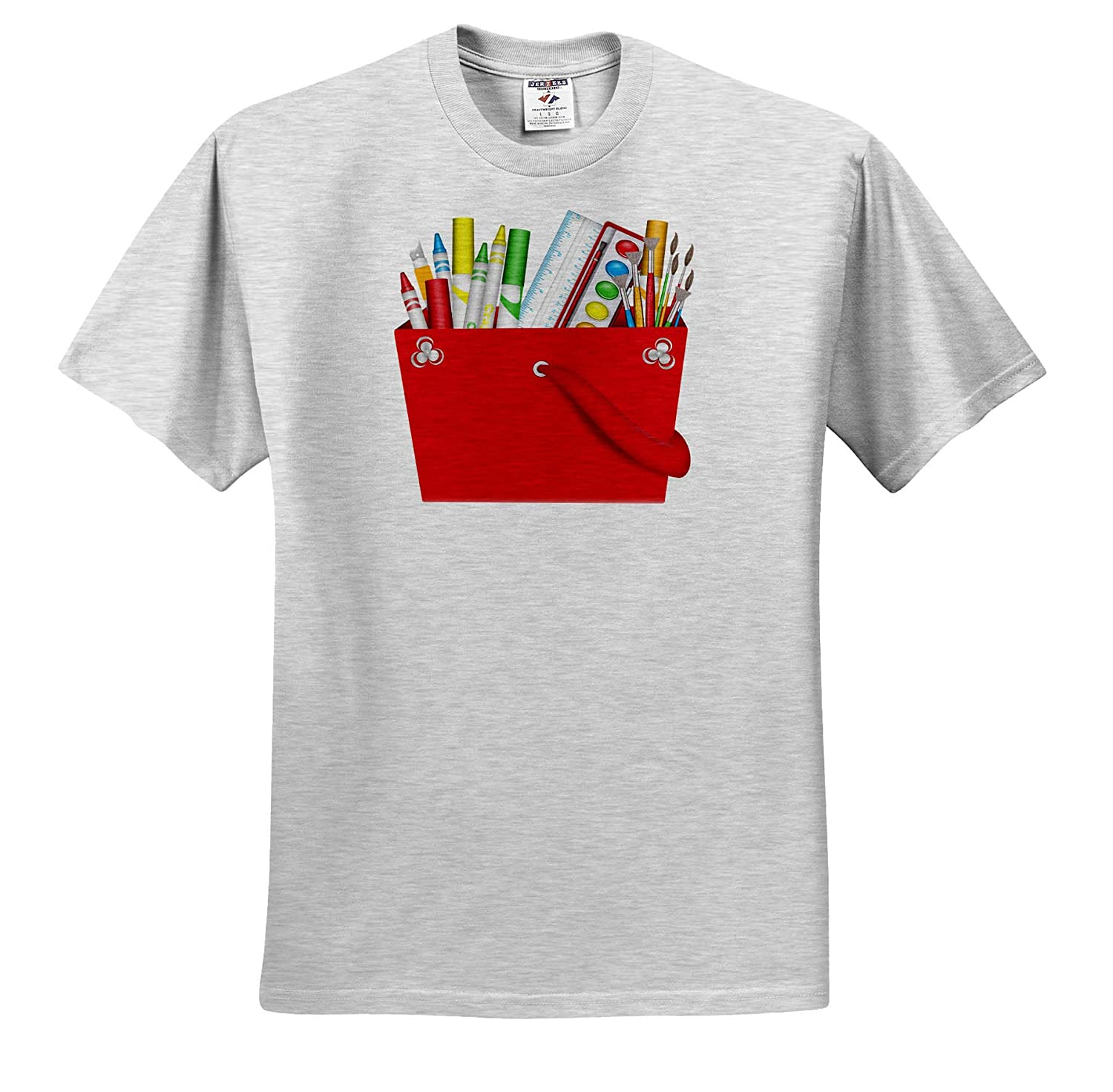 Adult T-Shirt XL Illustrations A Tote of Art Supplies Illustration 3dRose Anne Marie Baugh ts/_317944
