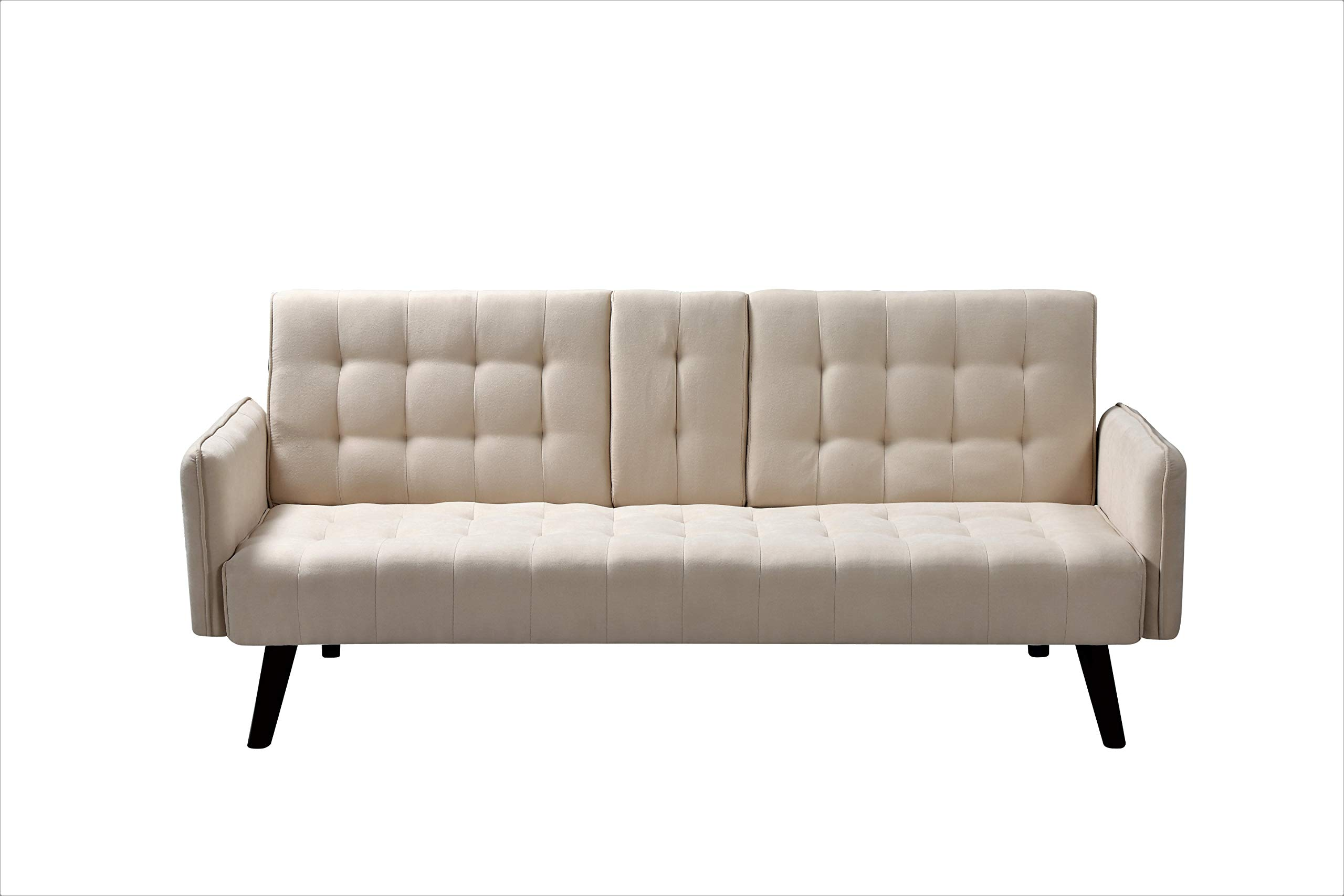 Container Furniture Direct SB9055 Hash Fabric Upholstered Living Room Sleeper Sofa, 72'', Beige by Container Furniture Direct