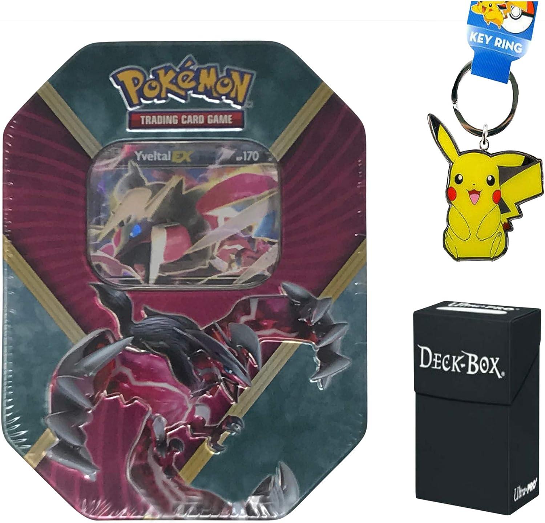 Pokemon Yveltal EX Lata con Tarjeta de promoción Yveltal EX, 4 ...